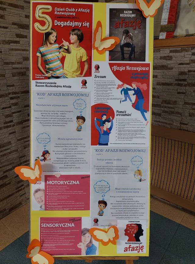 plakat o afazji rozwojowej